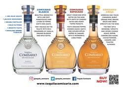 Three Expressions of Tequila Comisario www.tequilacomisario.com