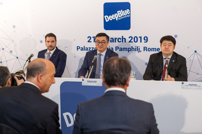 Chairman of the Board of Directors of DeepBlue Italy, Anderson Chen (center) establishing the reasons for formation of DeepBlue Italy