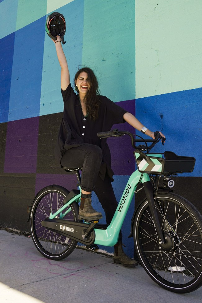VeoRide's e-bike features a swappable battery and the highest quality fleet to meet the rigors of shared mobility programs for cities and universities.
