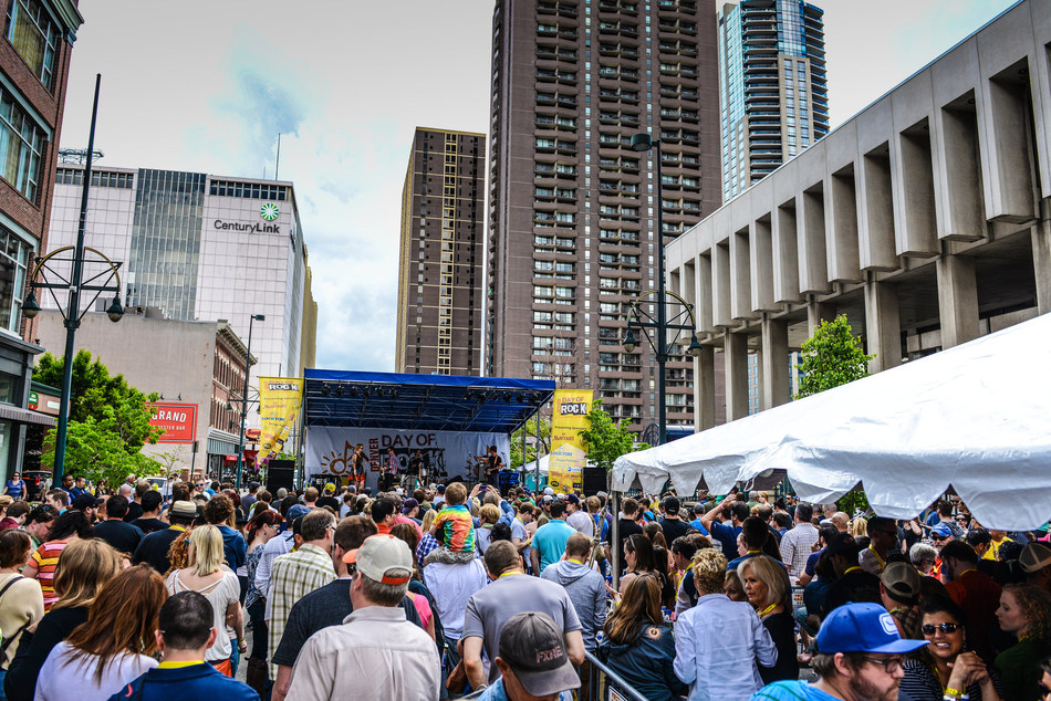 Denver Day of Rock – a block party in downtown Denver featuring more than two-dozen free rock concerts – kicks off Memorial Day weekend and a summer full of international sporting events, world tour concerts, blockbuster exhibitions and more. (Credit: VISIT DENVER)