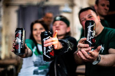 Fans in Berlin enjoy the official Enter Night Pilsner launch in Europe.