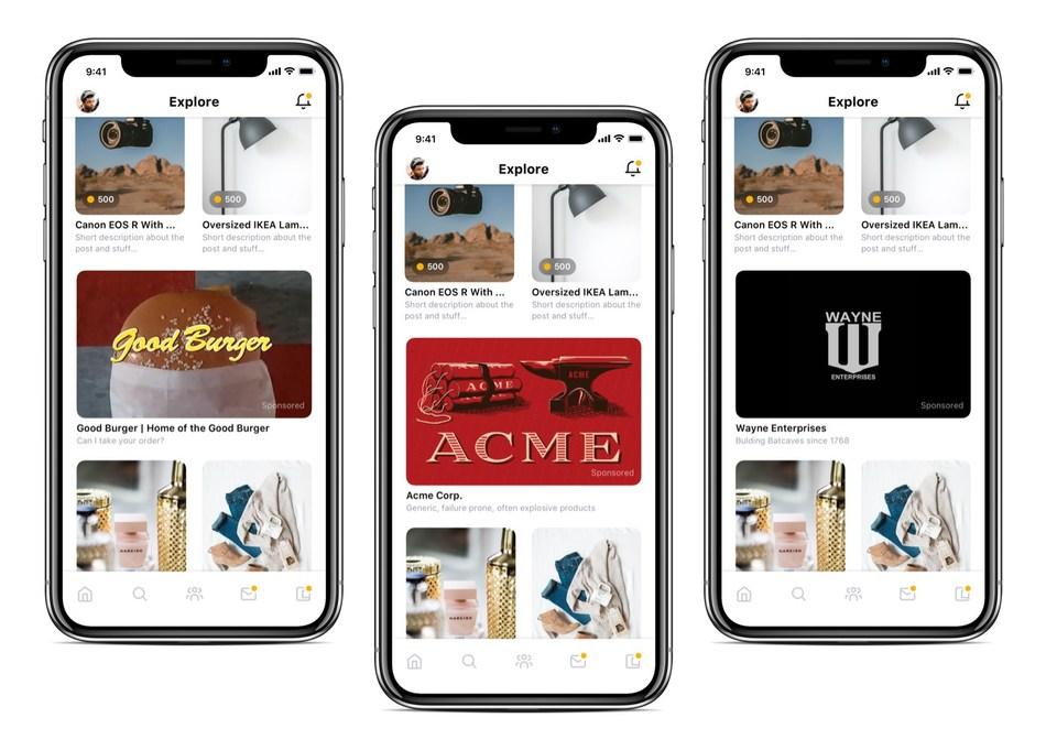 Bunz #PayPeopleNotPlatforms in-app advertising (CNW Group/Bunz)