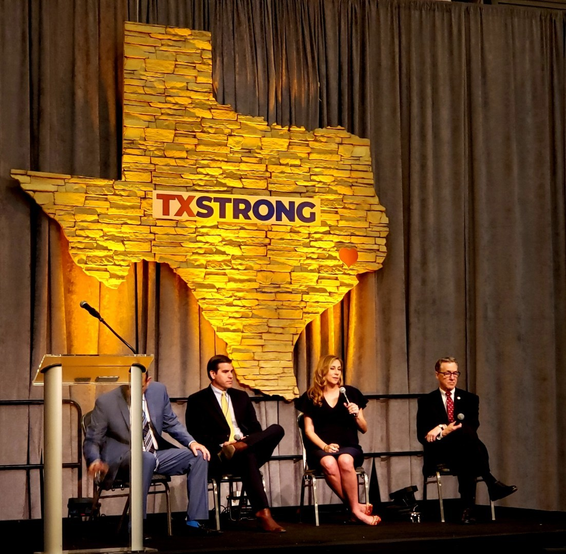 Brittany Perkins speaks on the TX Strong Disaster Recovery panel at the 2019 TxSWANA Conference.
