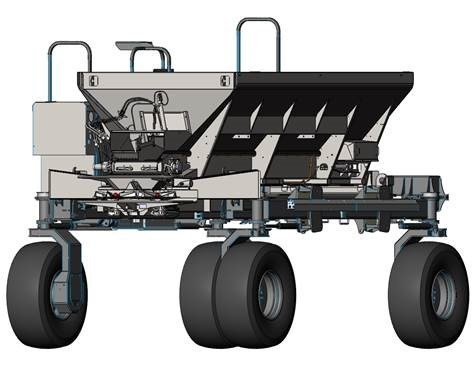 CAD rendering of dry spreader for the DOT Power Platform (CNW Group/DOT Technology Corp.)