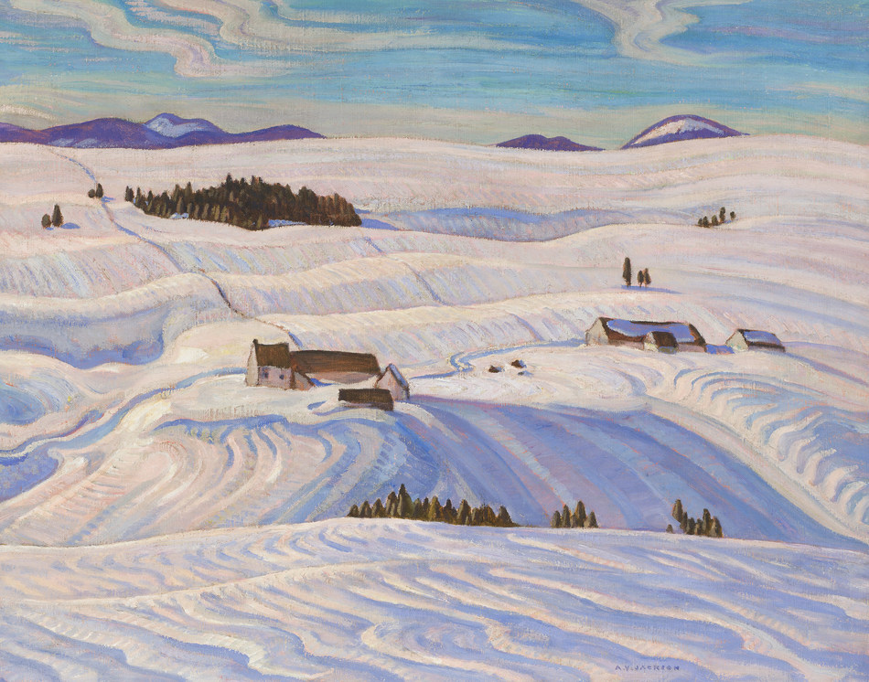Laurentian Hills, an exceptional A.Y. Jackson canvas from the collection of the AGO will be offered in Heffel's spring auction (est. $250,000 – 350,000) (CNW Group/Heffel Fine Art Auction House)