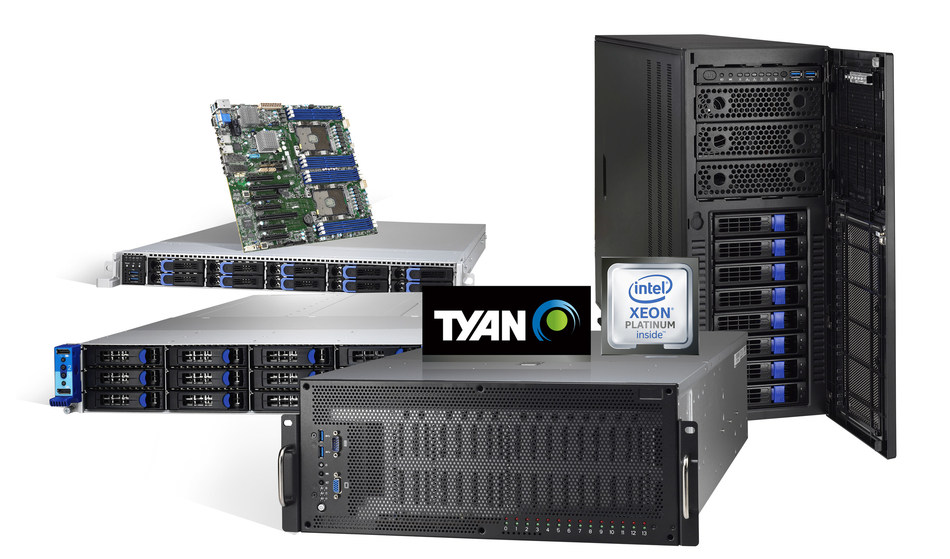 TYAN 2nd Generation Intel Xeon Scalable Processor-based Platforms to Deliver Amazing Performance for AI, HPC and Cloud Infrastructure