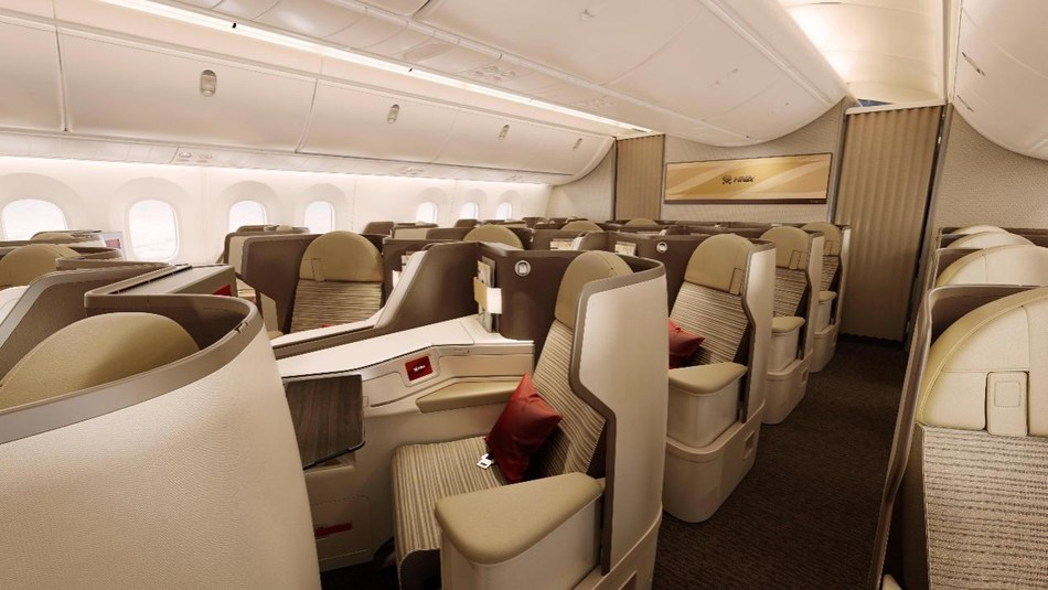 """Hainan Airlines 787-9 Dreamliner's Business Class with """"Dream Feather"""" interiors"""