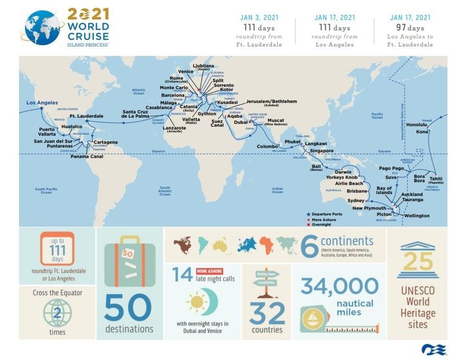 Princess Cruises Debuts Most Destination-Rich World Cruise ...