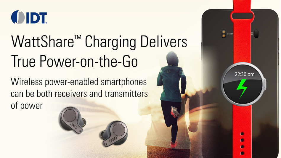 IDT's WattShare technology enables smartphones to wirelessly charge other devices.