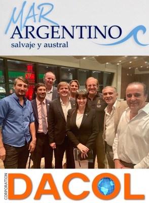 Secretario De Pesca Juan Bosh, junto al CEO de DACOL Corporation & Logistics, Lic. Nancy Clara, Dr. Mario Golab, Fernando Rulli.