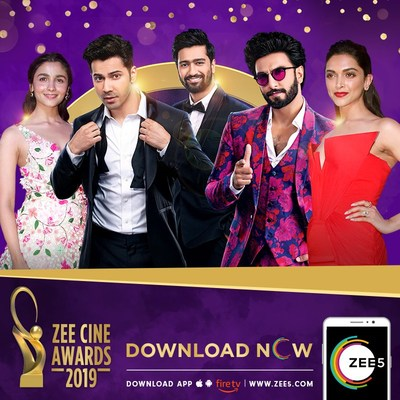 ZEE5's Global audiences to be treated to Bollywood's biggest Awards Night, the ZEE Cine Awards 2019