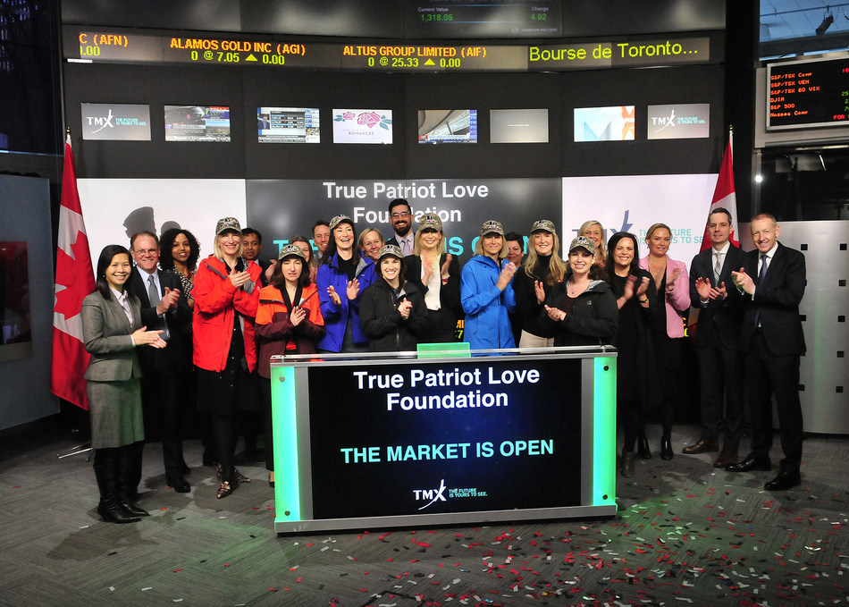 True Patriot Love Foundation Opens the Market (CNW Group/TMX Group Limited)