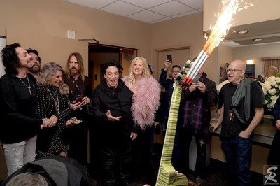 Celebrating Neal Schon's Birthday Backstage.