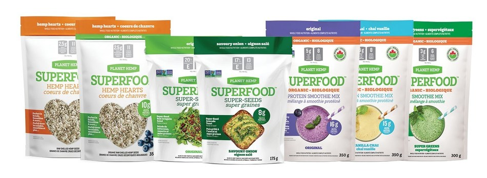 New line of PLANET HEMP SUPERFOOD(TM) Products (CNW Group/Hempco Food and Fiber Inc.)