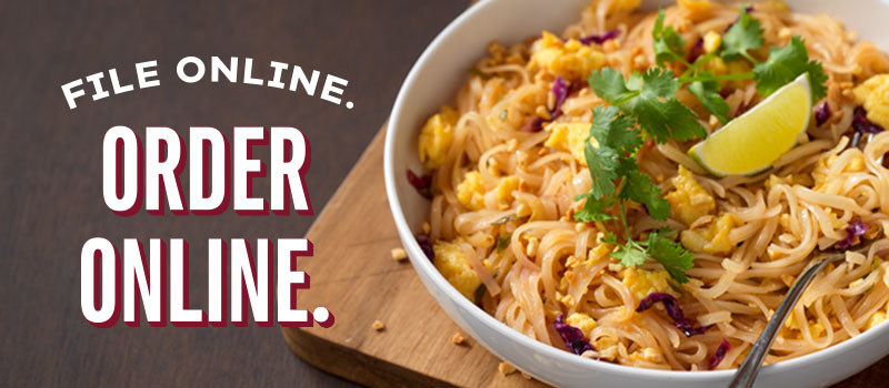 Noodles & Company is offering guests tax season relief with a special $4 off online and mobile orders of $10 or more from April 10 to April 15, 2019.