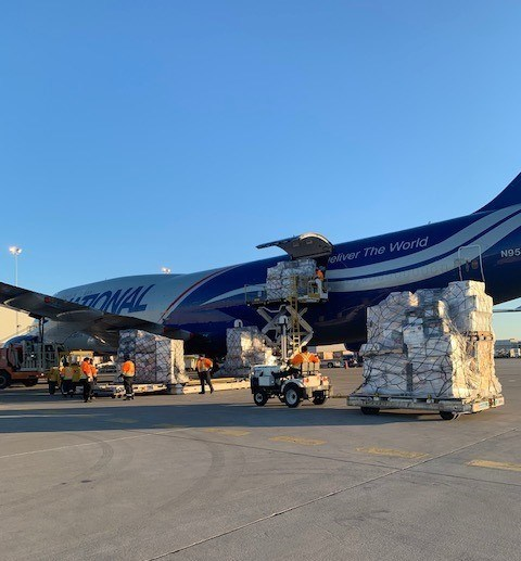 National Airlines 747 Aircraft Loading at the Toronto International Airport
