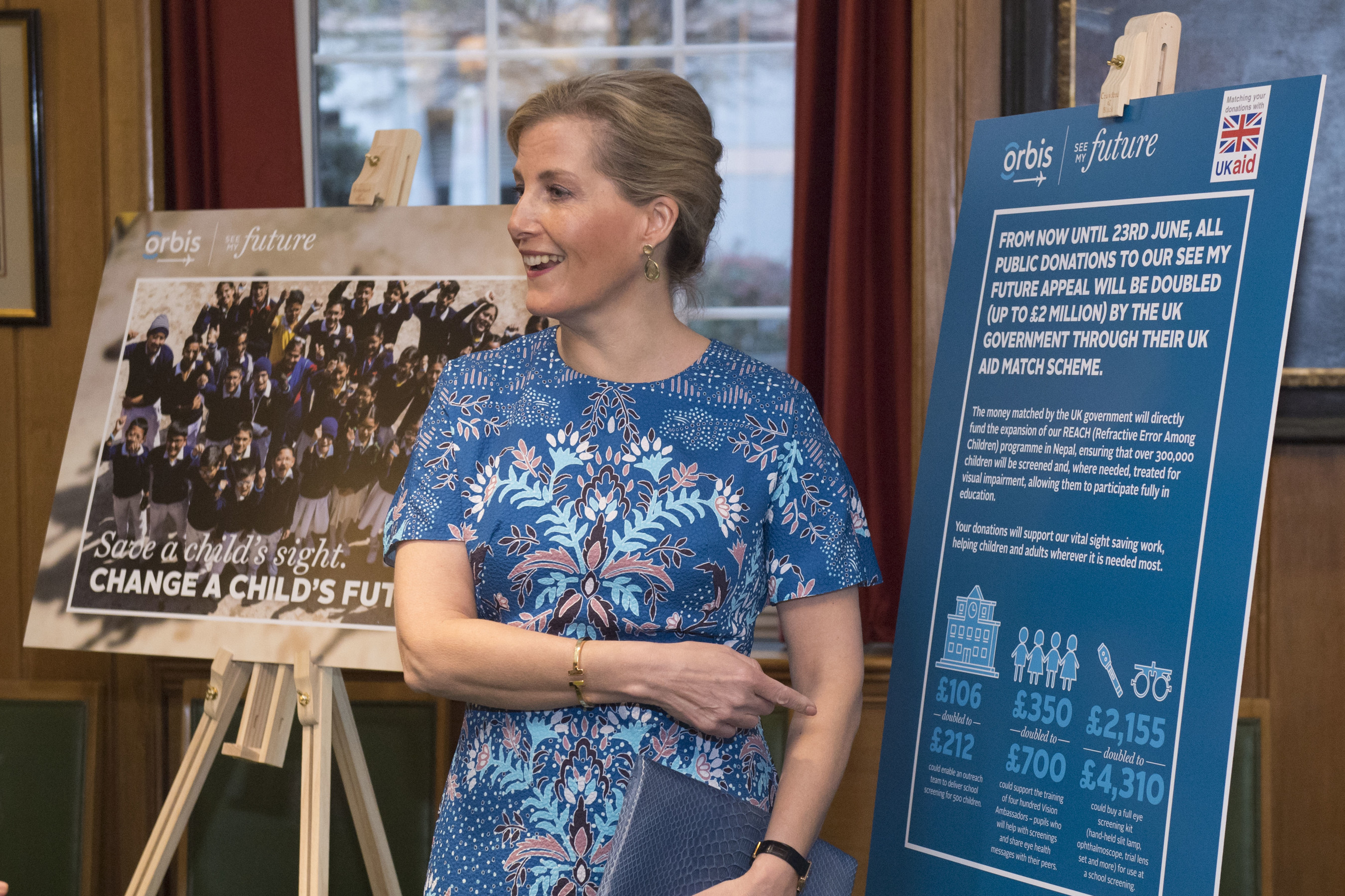 HRH The Countess of Wessex Helps Orbis UK Launch 'See My