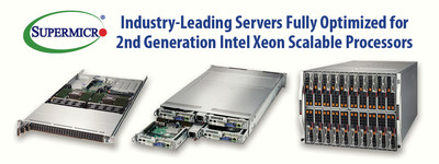 Supermicro Introduces Over 100 Resource-Saving Server and Storage Systems with New 2nd Generation Intel® Xeon® Scalable Processors