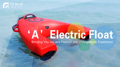 AEF, an A-shaped electric float, allows users to leisurely enjoy the water. It carries users with five different gears, reaching speeds up to 1.74m/s when downstream. Users do not need to know how to swim to use the AEF.