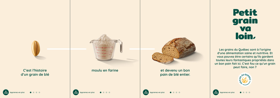 Exemple d'image de la nouvelle campagne des Producteurs de grains du Québec (PGQ) (Groupe CNW/Producteurs de grains du Québec)