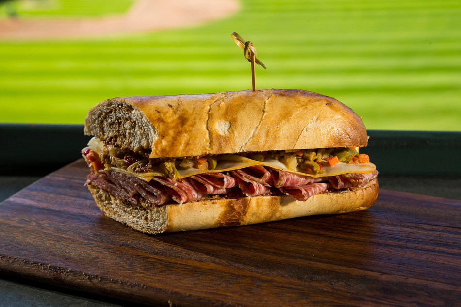 Centerplate, the hospitality partner to North America's premier sports stadiums, convention centers and entertainment venues – has announced an array of new culinary concepts coming this season to T-Mobile Park, home of the Seattle Mariners. Pictured here: the Grand Salami