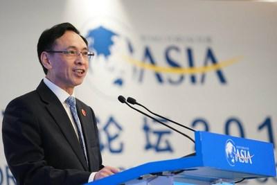 Yan Xiaoming, vicepresidente de China Media Group, da un discurso destacado en la Conferencia sobre Cooperación de Medios Asiáticos durante el Foro Boao para la Conferencia Anual de Asia 2019 en Boao, provincia de Hainan en el sur de China, 29 de marzo de 2019. [Foto: Li Jin] (PRNewsfoto/China Media Group)