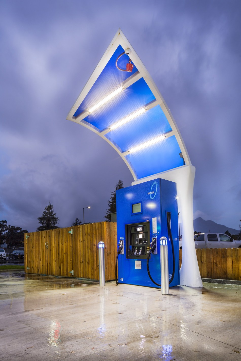FirstElement Fuel's California Hydrogen Network Receives $24 Million in Funding  to help Quadruple its Retail Capacity.  Seen Here True Zero Mill Valley, CA Station.