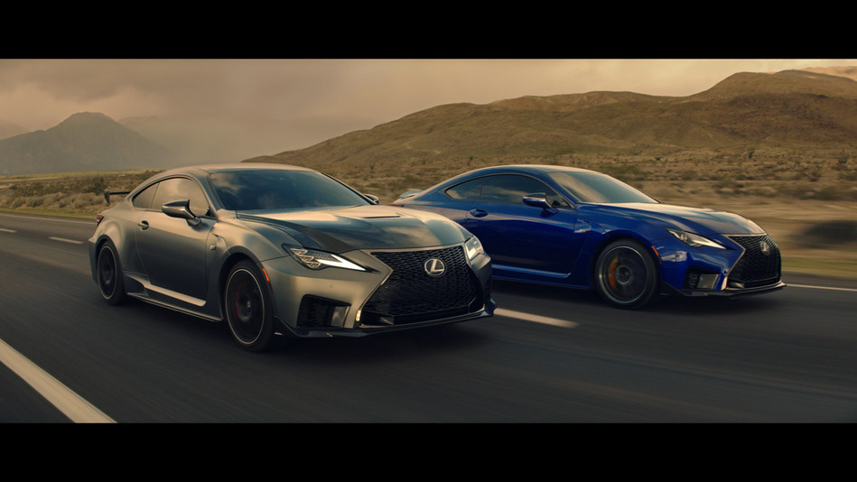 Lexus' new marketing campaign features its updated line of RC coupes, including the all-new 2020 RC F Track Edition.