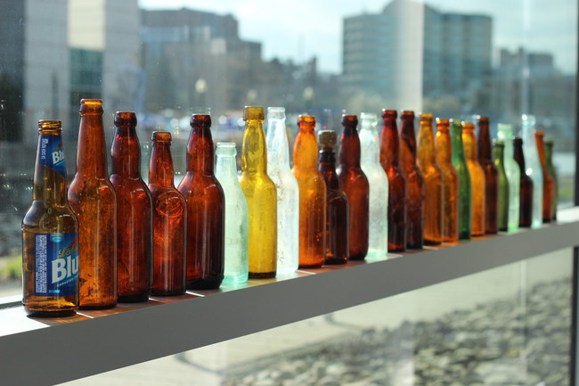 Bottles at the Great Lakes Beach Glass & Coastal Arts Festival