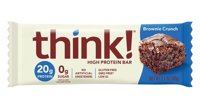 thinkThin will be dropping the last part of its name and will be known only as think! To celebrate with fans nationwide, exclusive first edition think! bars, including its popular Brownie Crunch protein bar will be given away via Instagram @thinkproducts for the first 500 fans that sign up