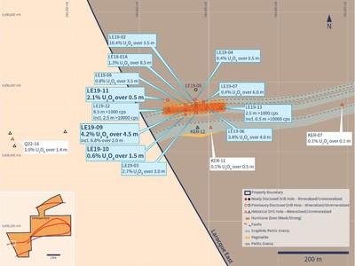 Figure 2 – Hurricane Zone Detailed Planview (CNW Group/IsoEnergy Ltd.)