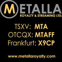 Metalla Royalty & Streaming Ltd. (CNW Group/Metalla Royalty and Streaming Ltd.)