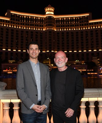 Game of Thrones' Composer Ramin Djawadi and WET Design CEO Mark Fuller Celebrate Debut of Game of Thrones Production on The Fountains of Bellagio. Show Runs Twice Nightly at 8 and 9:30 p.m. Through April 13