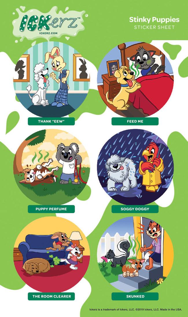 Ickerz Stickers - Stinky Puppies