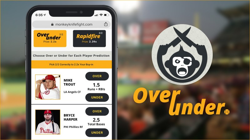 Monkey Knife Fight Launches MLB Prop Gaming after Millions of Entries for NFL and NBA seasons. The fastest-growing sports gaming platform is projecting to pay out more than $100 Million for baseball gaming this season. (CNW Group/Monkey Knife Fight)