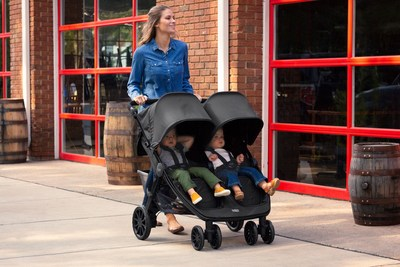 The new Britax B-Lively Double Stroller features a quick-fold and lightweight, modern frame for on-the-go families.
