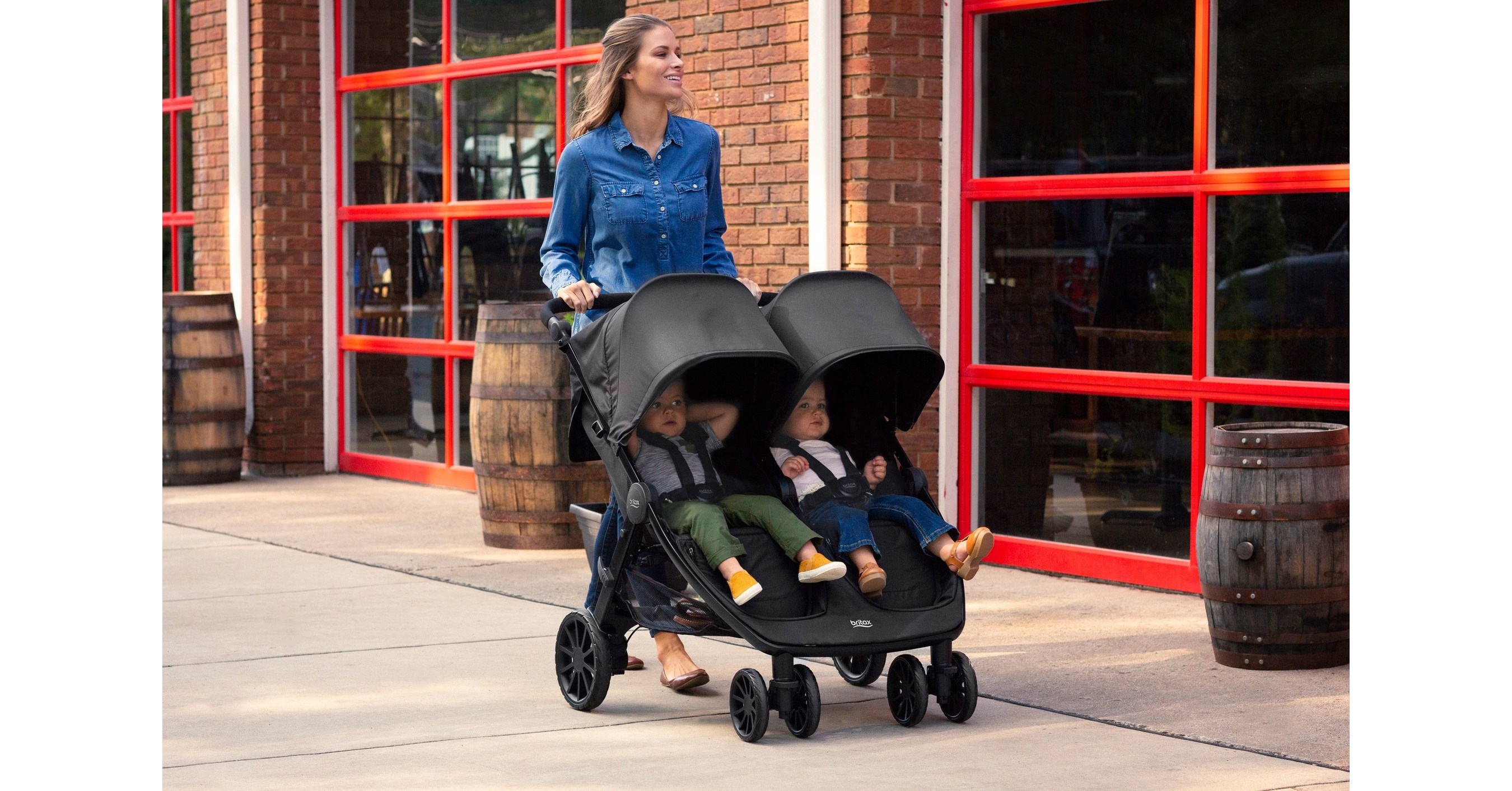 New Britax B Lively Double Stroller Offers Comfort And Convenience