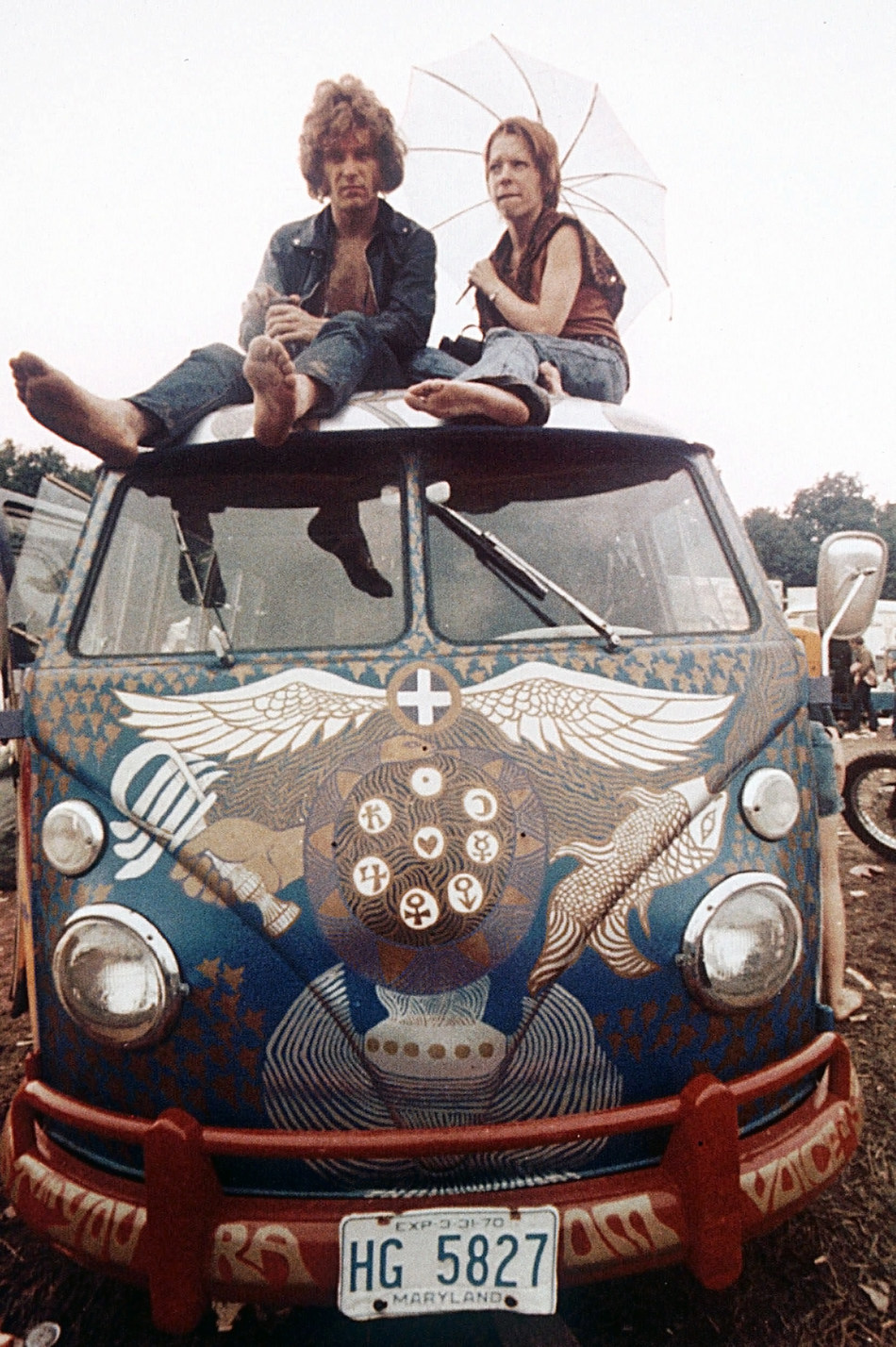 Light, The Woodstock Bus in 1969. Credit: Associated Press