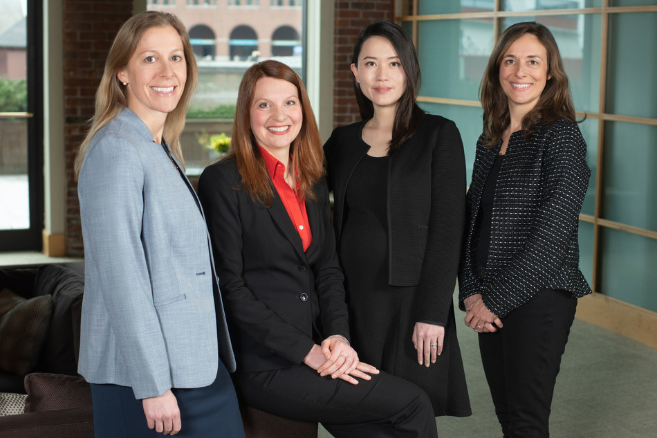 Goulston & Storrs, an Am Law 200 firm, has promoted four attorneys to director. Pictured (left to right) are Elizabeth K. Levine (Employment), Kerry L. Spindler (Private Client & Trust), Yuanshu Deng (Real Estate),  and Vanessa P. Moody (Real Estate).