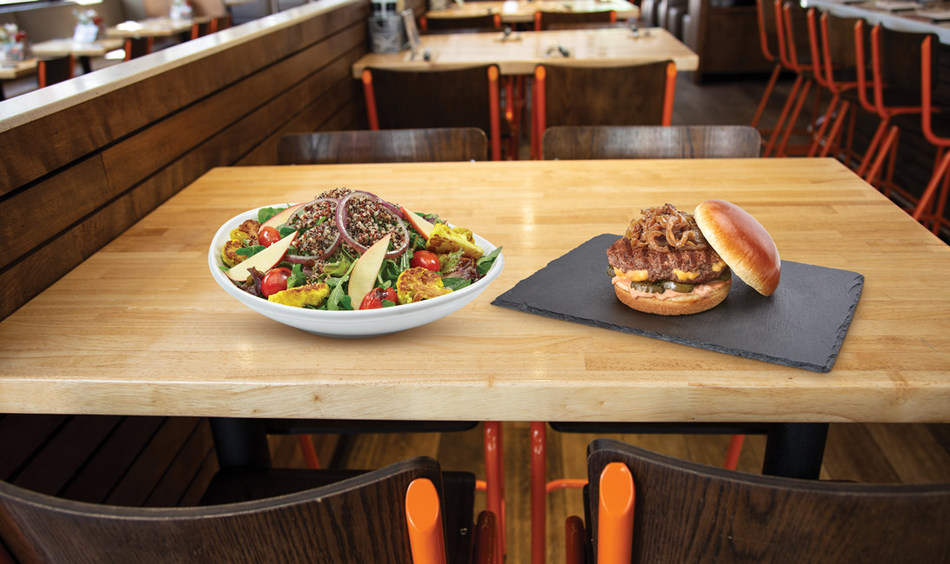 The Juicy Lucy Burger and Farm Fresh Salad are available now until July 1.