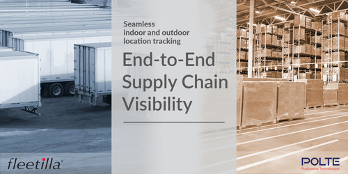 Seamless indoor and outdoor location tracking. End-to-End Supply Chain Visibility.