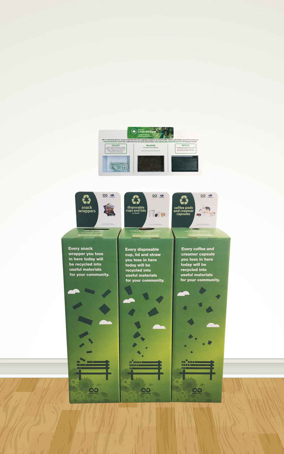 For Subaru Loves the Earth, Subaru and TerraCycle® are continuing to intercept and repurpose hard to recycle items at more than 580 participating Subaru retailers nationwide.