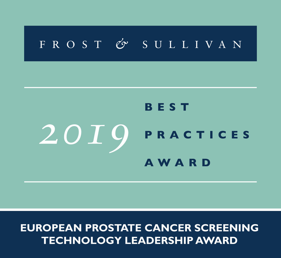 2019 European Prostate Cancer Screening Technology Leadership Award (PRNewsfoto/Frost & Sullivan)
