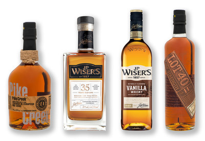 Corby Spirit and Wine's Canadian Whiskies Achieve Worldwide Acclaim (CNW Group/Corby Spirit and Wine Communications)