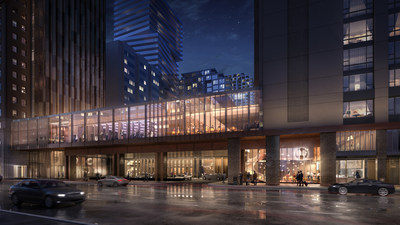 Connecting podium on Avenue Road that features 600 person ballroom and restaurant. (CNW Group/Oxford Properties Group Inc.)