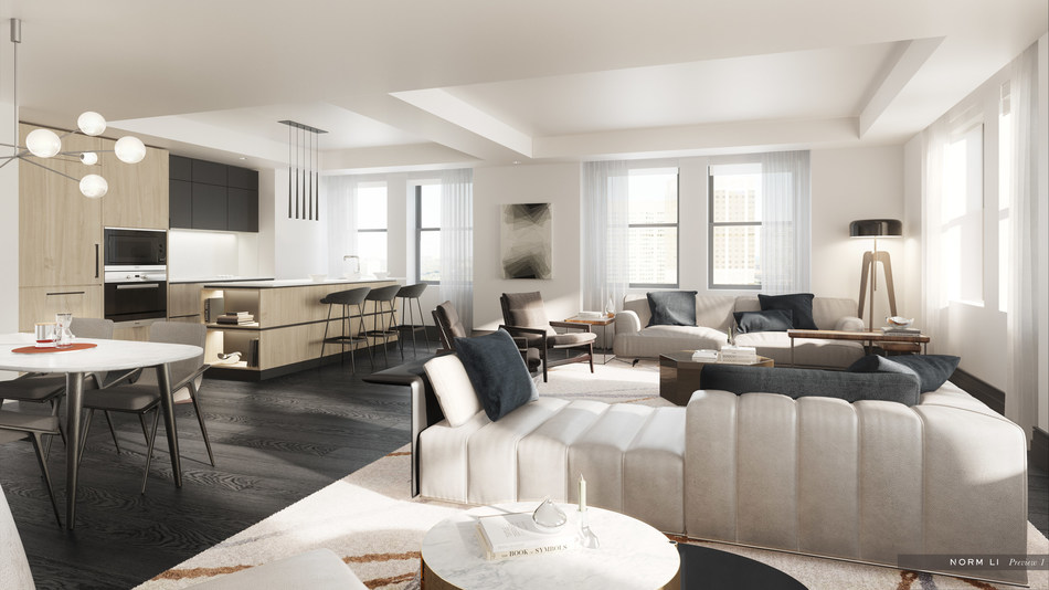 Inside view of one of the 65 luxury rental apartments at Two Avenue Road (CNW Group/Oxford Properties Group Inc.)