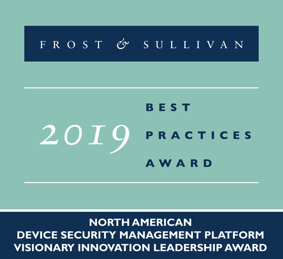 2019 North American Device Security Management Platform Visionary Innovation Leadership Award