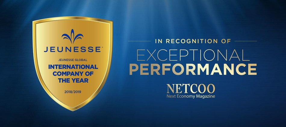 NETCOO Honors Jeunesse as 2018-2019 International Company of the Year