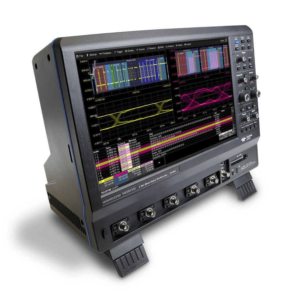 "Teledyne LeCroy Introduces WaveRunner 9000 Oscilloscopes with 15.4"" Display and Industry's Deepest Toolbox - ideal for embedded/automotive and EMI/EMC testing"
