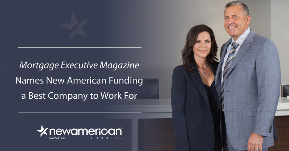 Mortgage Executive Magazine Names New American Funding a Best Company to Work For